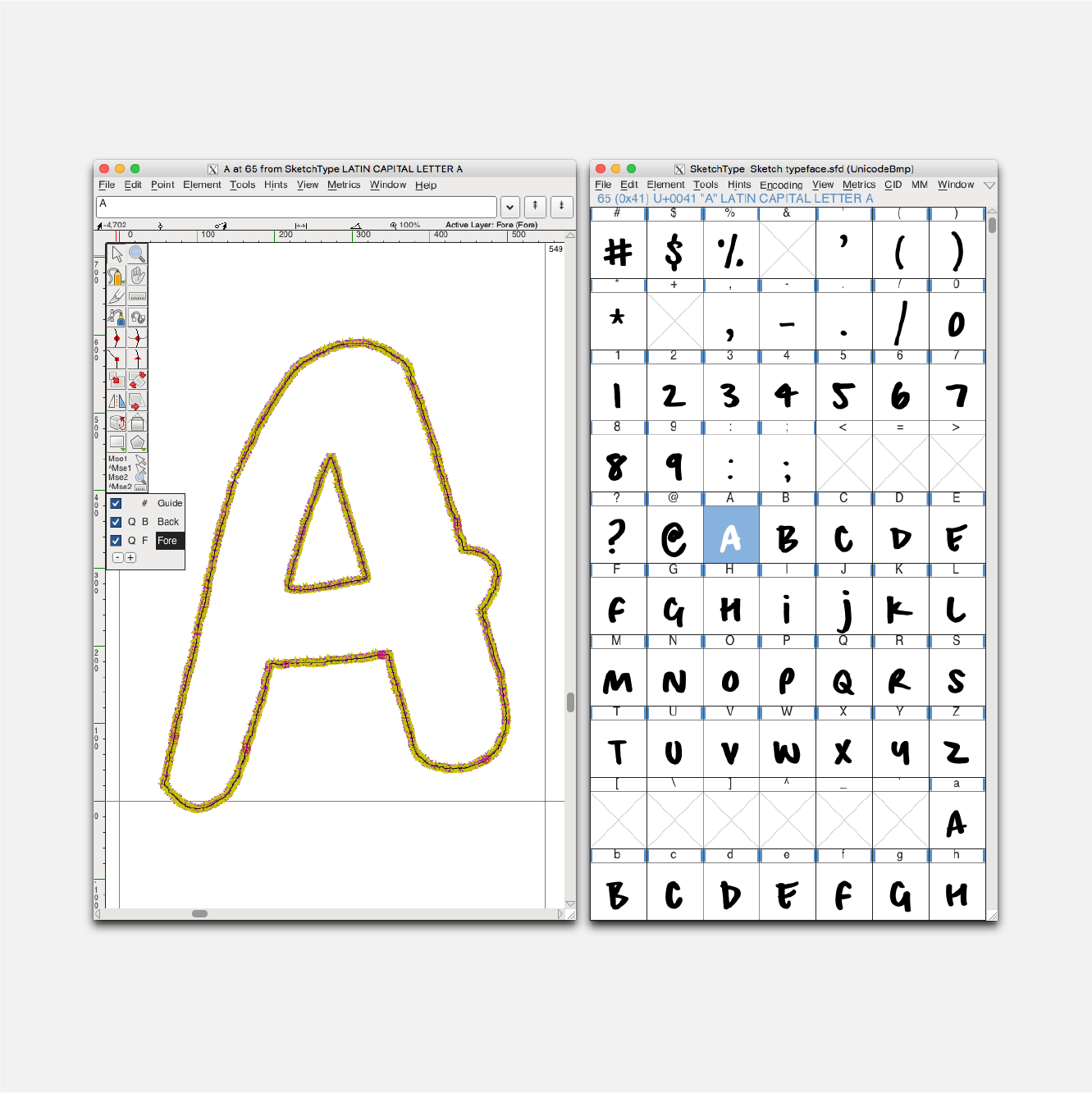 Sprint-Sketch typeface